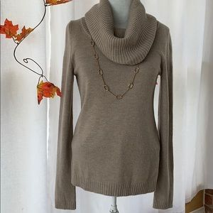 Gap light Taupe Cowl neck sweater